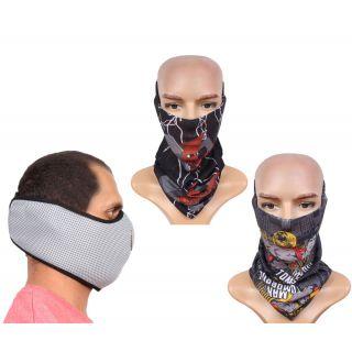 Sushito Fashion Pollution Free Face Mask  Bandana For Men JSMFHFM0792-JSMFHMA0574-JSMFHMA0687