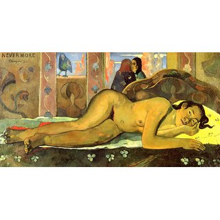 The Museum Outlet - Nevermore by Gauguin - Poster Print Online Buy (30 X 40 Inch)