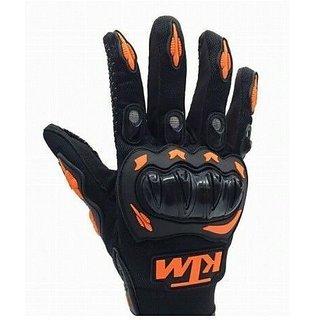 FOR KTM Inspired Motorcycle MX Motocross Racing Gloves Orange Black XL