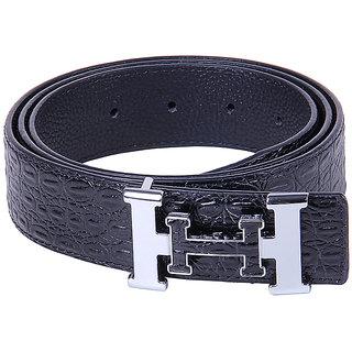Black Buck Men Formal Multicolor Genuine Leather Belt  (Black)