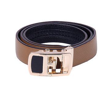 Black Buck Men, Boys Formal Multicolor Genuine Leather Belt  (Brown)