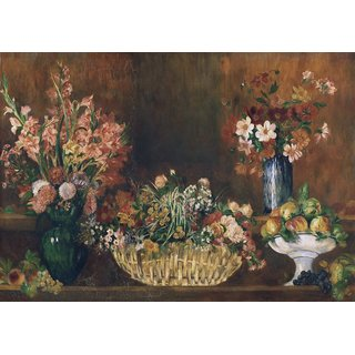 The Museum Outlet - Still Life with Flowers and Fruit, 1890 - Poster Print Online Buy (30 X 40 Inch)