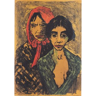 The Museum Outlet - Otto Mueller - Zwei Zigeunerinnen - 1926-27 - Poster Print Online Buy (30 X 40 Inch)