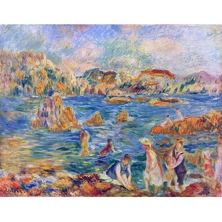 The Museum Outlet - The Beach at Guernsey, 1882-83 - Poster Print Online Buy (30 X 40 Inch)