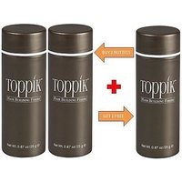 Toppik Hair Building Fibers Black 0.87oz/25 Grams BUY 2 GET ONE FREE!