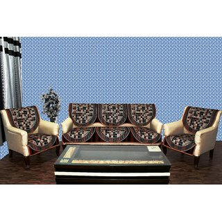 Chenille sofa cover destiny rust