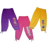 Girls Attraction Smooth Cotton Track pant (Set of -3)