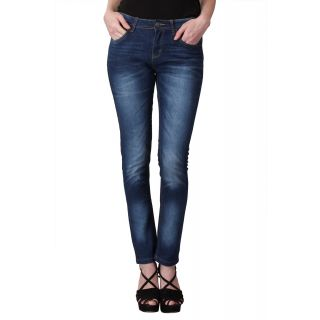 KOTTY  Blue Washed Mid Rise Slim Jeans