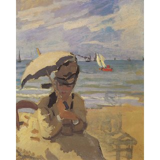 The Museum Outlet - Camille Monet on the beach at Trouville by Monet - Poster Print Online Buy (24 X 32 Inch)