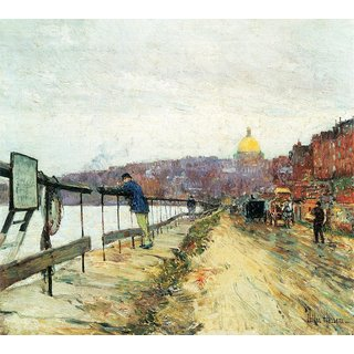 The Museum Outlet - Charles River und Beacon Hill by Hassam - Poster Print Online Buy (24 X 32 Inch)