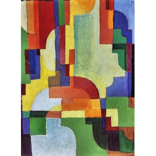 The Museum Outlet - Colored forms (I) by August Macke - Poster Print Online Buy (24 X 32 Inch)