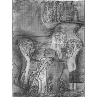 The Museum Outlet - Composition draft of the law faculty image by Klimt - Poster Print Online Buy (24 X 32 Inch)