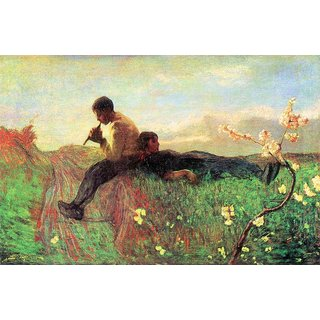 The Museum Outlet - Idyl by Segantini - Poster Print Online Buy (24 X 32 Inch)