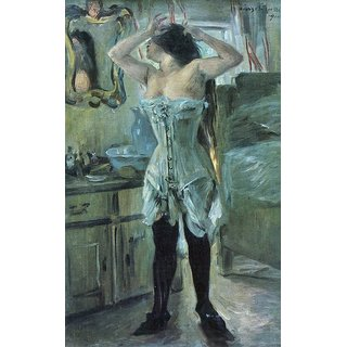 The Museum Outlet - In a corset by Lovis Corinth - Poster Print Online Buy (24 X 32 Inch)