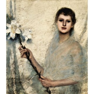 The Museum Outlet - Innocence by Franz von Stuck - Poster Print Online Buy (24 X 32 Inch)