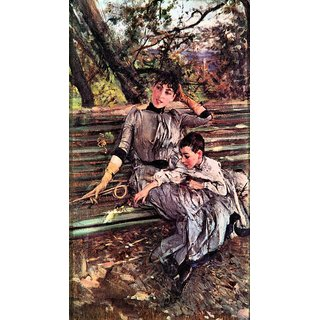 The Museum Outlet - In the garden by Giovanni Boldini - Poster Print Online Buy (24 X 32 Inch)