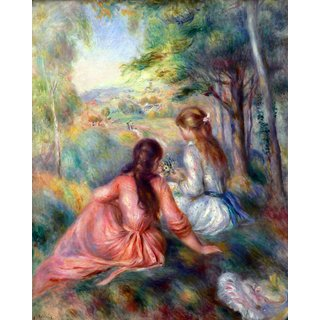 The Museum Outlet - In the meadow by Renoir - Poster Print Online Buy (24 X 32 Inch)