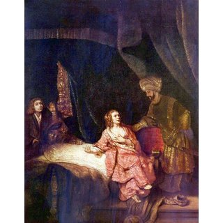 The Museum Outlet - Joseph is accused by Potiphars woman by Rembrandt - Poster Print Online Buy (24 X 32 Inch)