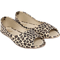 Jade Beige Peep Toe Casual Shoe