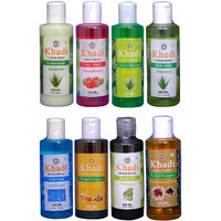 Khadi 1 Aloevera Conditioner And 1 Strawberry Face Wash And 1 Aloevere And 1 Aqua Cool Body Wash And 1 Bhringraj Oil And 1 Aloevere, 1 Haney  Almond, 1 Saffron Reetha Protein Shampoo  Combo