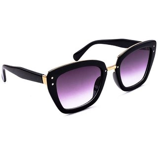 StacleStacle Designer Squared Cateye Womens Sunglasses Black Frame STD15101