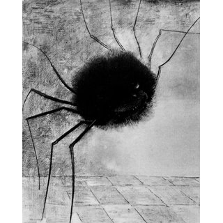 The Museum Outlet - Laughing spider by Odilon Redon - Poster Print Online Buy (24 X 32 Inch)