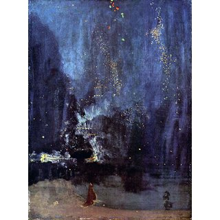 The Museum Outlet - Night in Black and Gold, The falling Rocket by Whistler - Poster Print Online Buy (24 X 32 Inch)