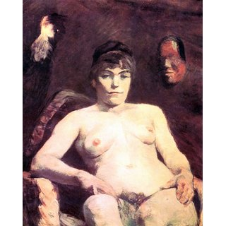 The Museum Outlet - Nude by Toulouse-Lautrec - Poster Print Online Buy (24 X 32 Inch)