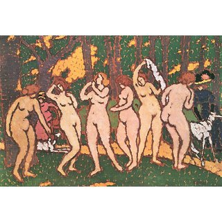 The Museum Outlet - Nudes in the park by Joseph Rippl-Ronai - Poster Print Online Buy (24 X 32 Inch)