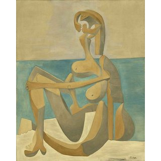 The Museum Outlet - Pablo Picasso - Seated Bather - Poster Print Online Buy (30 X 40 Inch)