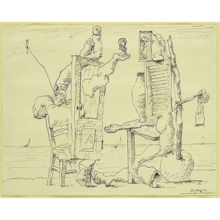 The Museum Outlet - Pablo Picasso - Two Figures on a Beach - Poster Print Online Buy (30 X 40 Inch)