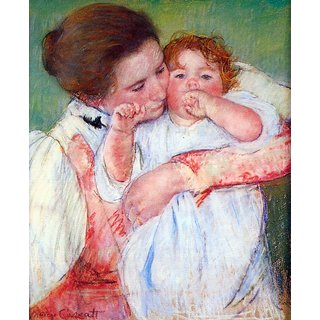 The Museum Outlet - Anne Klein, from the mother embraces by Casatt - Poster Print Online Buy (24 X 32 Inch)