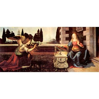 The Museum Outlet - Announcement to Maria 2 by Da Vinci - Poster Print Online Buy (24 X 32 Inch)