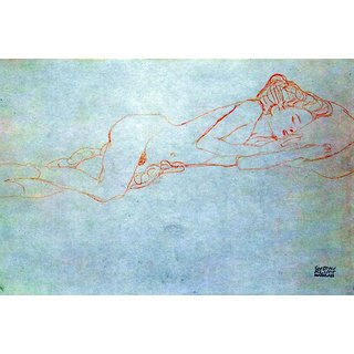 The Museum Outlet - Liegender female nude by Klimt - Poster Print Online Buy (24 X 32 Inch)
