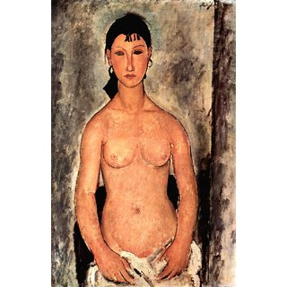 The Museum Outlet - Modigliani - Standing Elvira - Poster Print Online Buy (24 X 32 Inch)