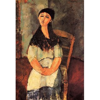 The Museum Outlet - Modigliani - The little Louise - Poster Print Online Buy (24 X 32 Inch)
