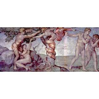 The Museum Outlet - Original sin and expulsion by Michelangelo - Poster Print Online Buy (24 X 32 Inch)
