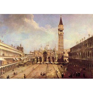 The Museum Outlet - Piazza San Marco 1 by Canaletto - Poster Print Online Buy (24 X 32 Inch)