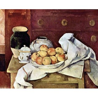 The Museum Outlet - Still Life by Cezanne - Poster Print Online Buy (24 X 32 Inch)