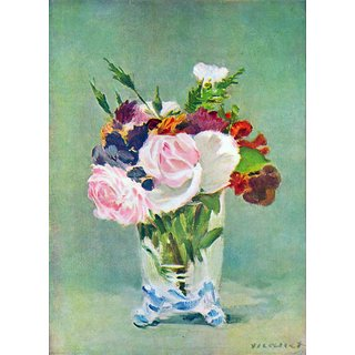 The Museum Outlet - Still Life with Flowers 2 by Manet - Poster Print Online Buy (24 X 32 Inch)