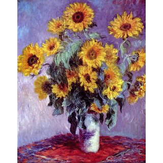The Museum Outlet - Still Life with Sunflowers by Monet - Poster Print Online Buy (24 X 32 Inch)