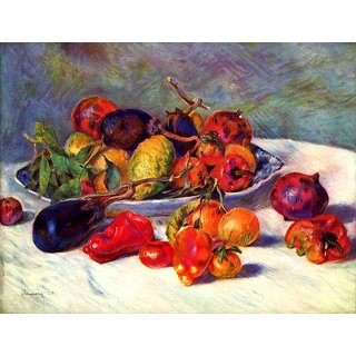 The Museum Outlet - Still life with tropical fruits by Renoir - Poster Print Online Buy (24 X 32 Inch)