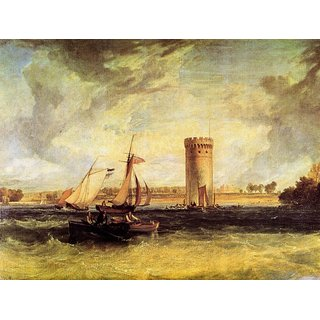 The Museum Outlet - Tabley, Windy day by Joseph Mallord Turner - Poster Print Online Buy (24 X 32 Inch)