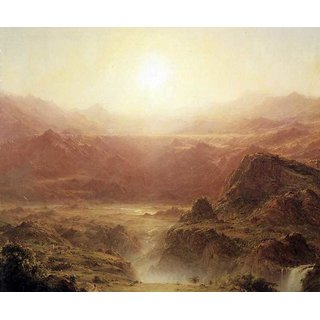 The Museum Outlet - The Andes of Ecuador Detail by Frederick Edwin Church - Poster Print Online Buy (24 X 32 Inch)