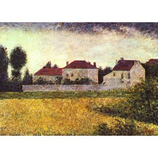 The Museum Outlet - Ville d'Avray, The white houses by Seurat - Poster Print Online Buy (24 X 32 Inch)