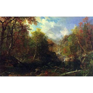 The Museum Outlet - The Emerald pond by Bierstadt - Poster Print Online Buy (24 X 32 Inch)