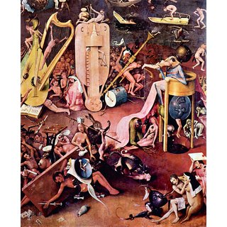 The Museum Outlet - The Garden of Hell, detail 7 by Bosch - Poster Print Online Buy (24 X 32 Inch)