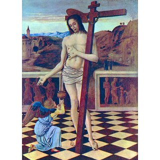 The Museum Outlet - The blood of the Redeemer by Bellini - Poster Print Online Buy (24 X 32 Inch)