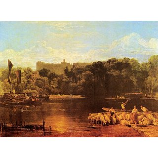 The Museum Outlet - Windsor castle from the Thames by Joseph Mallord Turner - Poster Print Online Buy (24 X 32 Inch)
