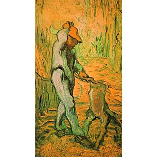 The Museum Outlet - Woodcutter (after Millet) by Van Gogh - Poster Print Online Buy (24 X 32 Inch)